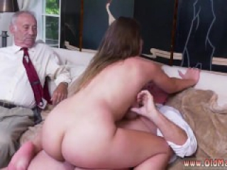 Old young lesbian shower Ivy impresses with her giant funbags and ass